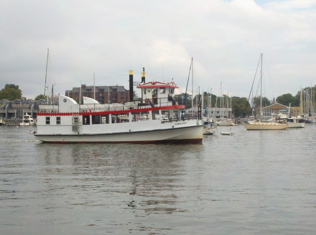 Annapolis Harbor Queen returning to dock in Downtown Annapolis