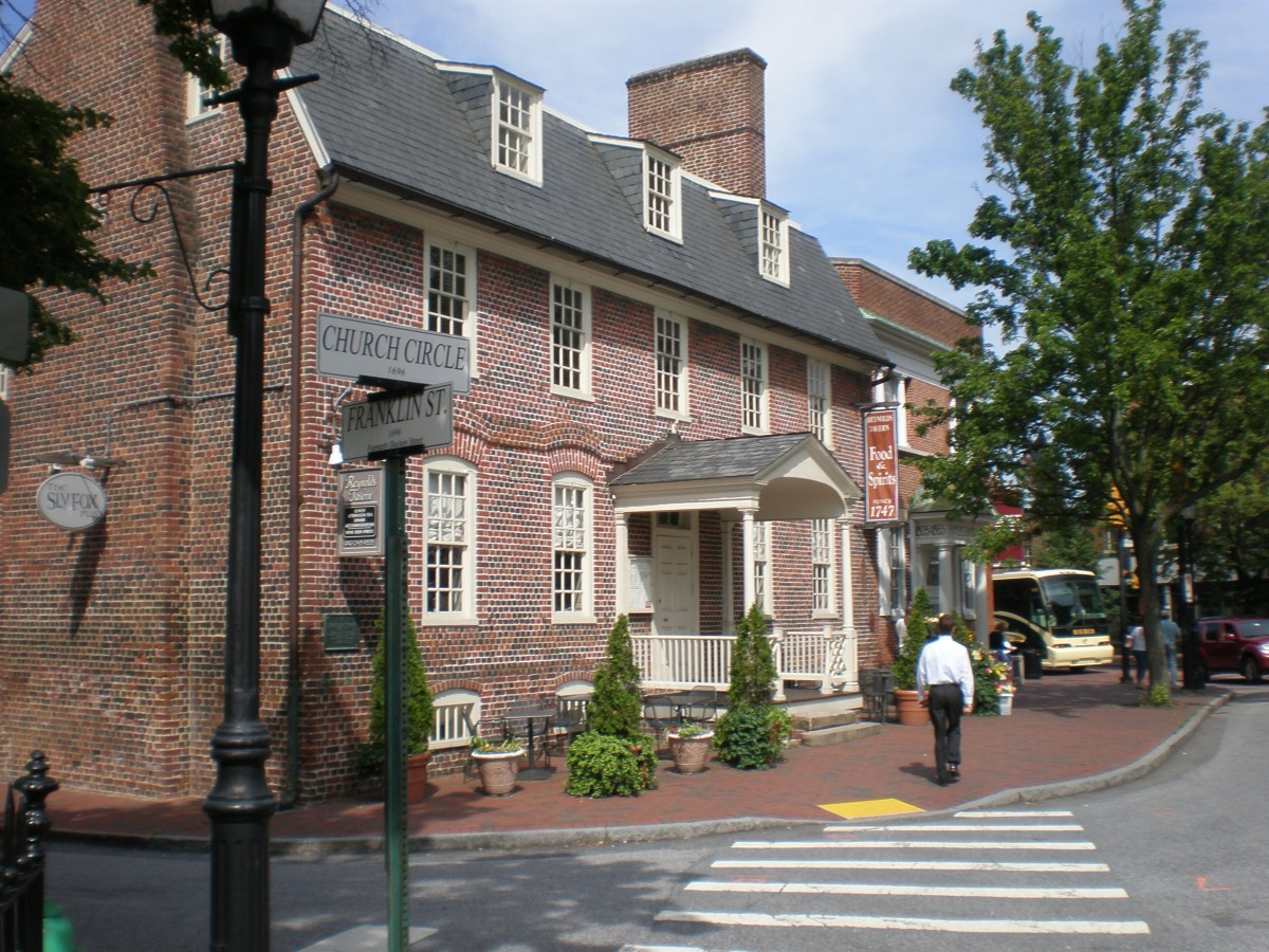 Reynolds Tavern On Church Circle In Downtown Annapolis