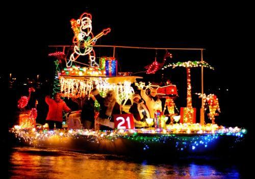 Come for the 29th annual Parade of Lights in Downtown Annapolis