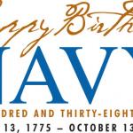 Navy Birthday Logo Annapolis MD