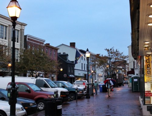 A rainy morning in downtown Annapolis